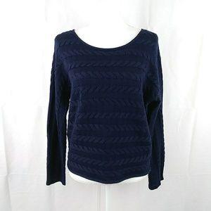 Tahari Merino Wool Blend Croped Sweater